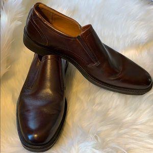 Ecco Brown Leather SlipOn
